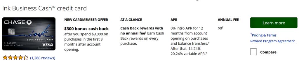 Boost Chase Ultimate Rewards - Current Offer for Ink Business Cash
