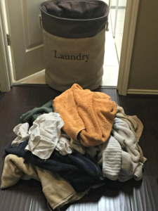 Saving Energy - Large Laundry Pile