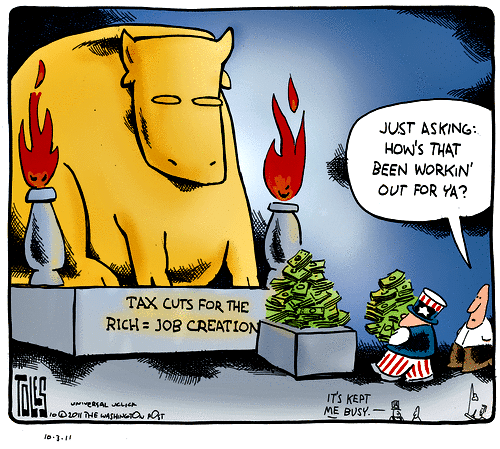 Are Tax Cuts Going to Benefit You - Tax Cuts Cartoon