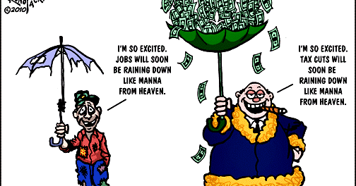 Are Tax Cuts Going to Benefit You - Jobs Cartoon
